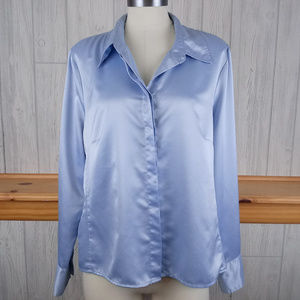 East 5th ~ Blue Satin-Look Blouse